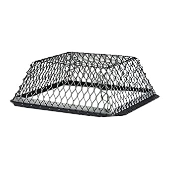 """HY-C RVG1616G Galvanized Black Roof VentGuard with Wildlife Exclusion Screen, 16"""" x 16"""" x 6"""""""