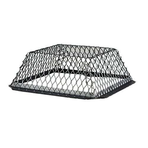 HY-C RVG1616G Galvanized Black Roof VentGuard with Wildlife Exclusion Screen, 16