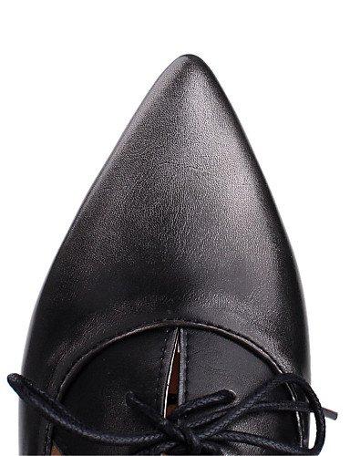 GGX/ Damen-High Heels-Büro / Kleid / Lässig-maßgeschneiderte Werkstoffe / Kunstleder-Niedriger Absatz-Stile / Spitzschuh-Blau / Silber / dark blue-us9 / eu40 / uk7 / cn41