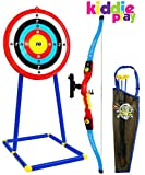 kids archery target - Kiddie Play Toy Archery Set for Kids with Bow and Arrow Target and Quiver