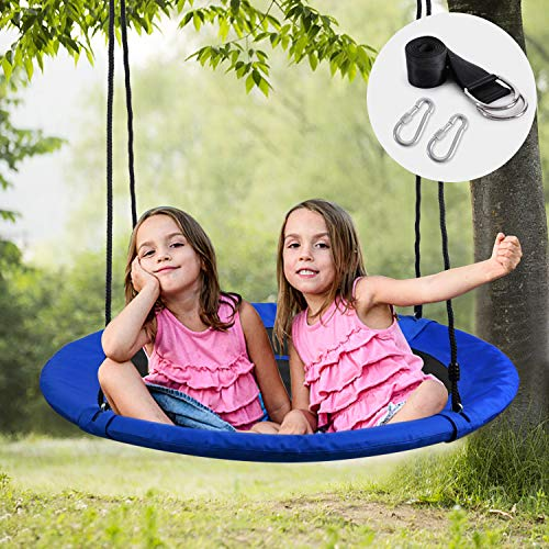 - WONDERVIEW Tree Swing, Outdoor Swing with Hanging Strap Kit, 40 Inch Diameter 600lb Weight Capacity, Great for Playground Swing, Backyard and Playroom