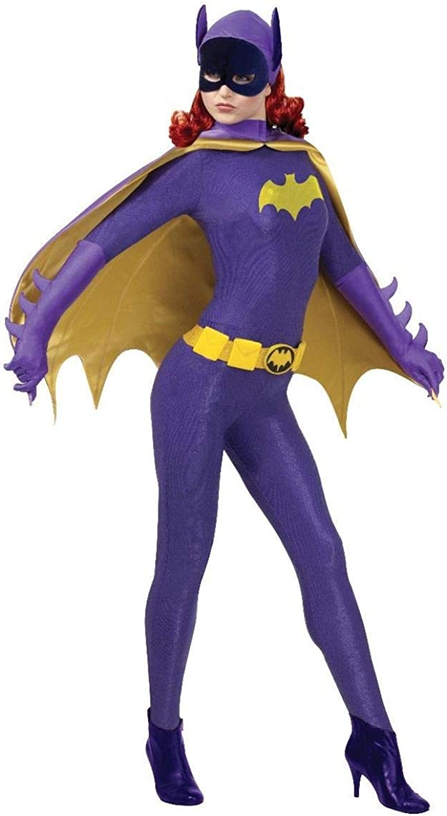 New Women/'s Bat Girl Super Hero Comic Bat Family Fanct Dress Costume All Sizes