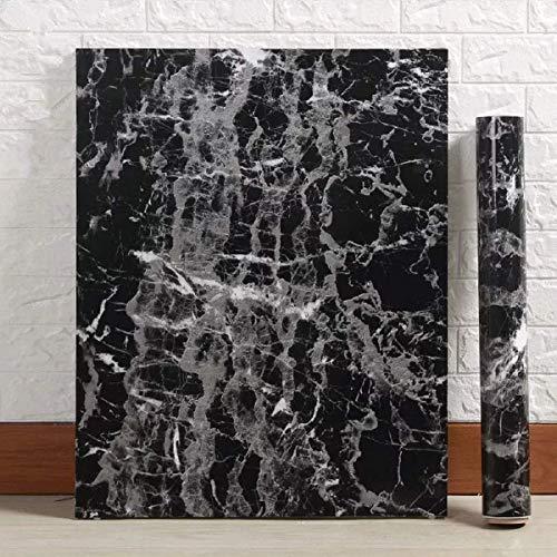 (Black Granite Wallpaper Marble Counter Top Film Vinyl Self Adhesive Peel-Stick Wallpaper (17.8