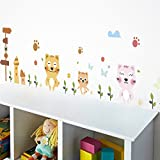 Cat Family Farm Decorative Wall Stickers For Home Living Room Decoration PVC Kitchen
