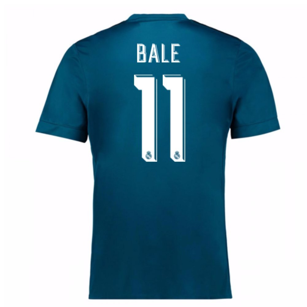 2017-18 Real Madrid Third Football Soccer T-Shirt Trikot (Gareth Bale 11) - Kids
