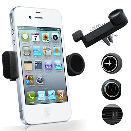 Car Mount AC Air Vent Phone Holder Rotating Cradle Swivel Do