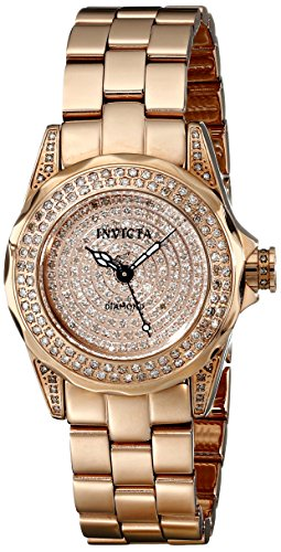 Invicta Women's 16710 Pro Diver Analog Display Swiss Quartz Rose Gold Watch