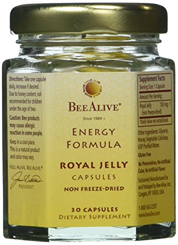 BeeAlive Energy Formula Royal Jelly Gluten-Free Vegetarian C