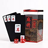 Markmesafe Travel Mah Jong Chinese Traditional Mahjong Playing Cards PVC-148 Cards Set
