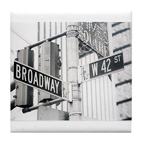 CafePress - NY Broadway Times Square - - Tile Coaster, Drink Coaster, Small Trivet