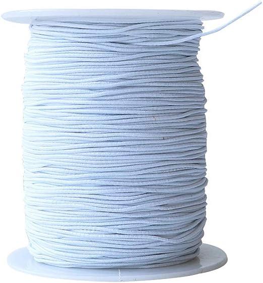 20 Mm White Per 2 Metres Premium Braided Elastic