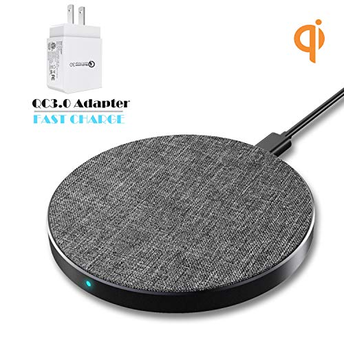 Wefunix 10W Fast Wireless Charger Compatible for Samsung Note 9/8 S10 S9 S8 S7- [USB-C] 7.5W Qi Fast Wireless Charging Pad Compatible for iPhone Xs Xs Max Xr X 8 -