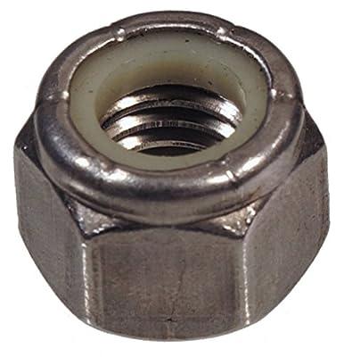 The Hillman Group 829761 5/16-24 Stainless Steel Nylon Insert Locknut, 50-Pack