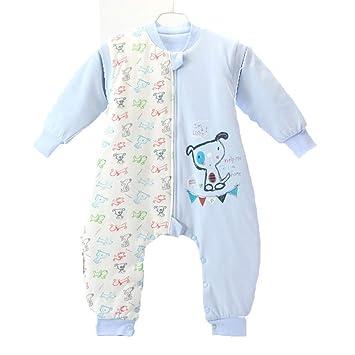 CWLLWC Saco de Dormir para bebé,Algodón bebé Fractura Pierna Saco de Dormir bebé Primavera y otoño Fino algodón niño Anti-Kick por: Amazon.es: Hogar