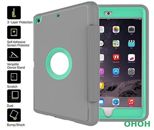 Ipad Mini Case, OHOH Auto Sleep Ipad Mini 3 Case,TPU+PC Ultra Slim Light Weight Protective Anti-stain. Bracket. Popular and Fashion Design for Ipad Mini 1/2/3(Hot Blue)