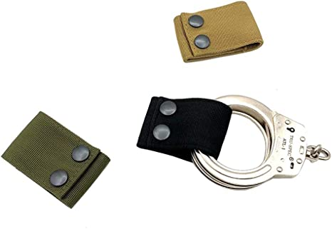 """Hand Cuff Strap Holder Nylon Safety Snap Closure Perfect Fits 2.25/"""" Duty Belts"""