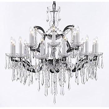 19th c rococo iron crystal chandelier lighting h 52 x w 41 19th c rococo iron empress crystal tm chandelier lighting crystal icicles h mozeypictures Gallery