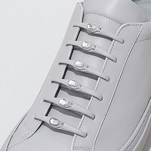 [スポンサー プロダクト]HICKIES With Crystals from Swarovski® - スワロフスキーのクリスタル付ヒッキーズ フリーサイズ 結ばない伸縮素材の靴ひも (14 ヒッキーズ靴ひも)