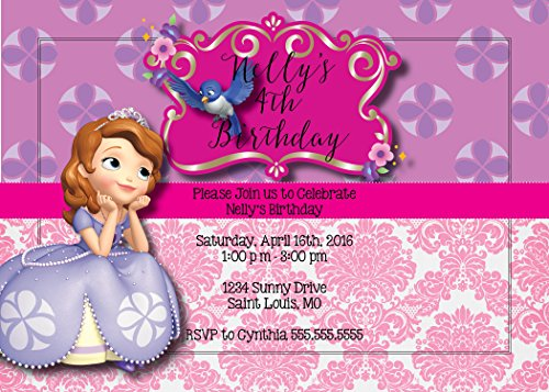 Custom Birthday Party Invitation - Sofia The First]()