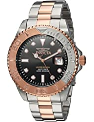 Invicta Mens Pro Diver Quartz Stainless Steel Diving Watch, Color:Two Tone (Model: 24625)