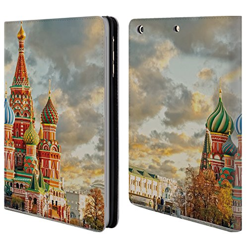 Head Case Designs Cattedrale Di San Basilio Skyline Citta Cover a portafoglio in pelle per Apple iPad mini 1 / 2 / 3