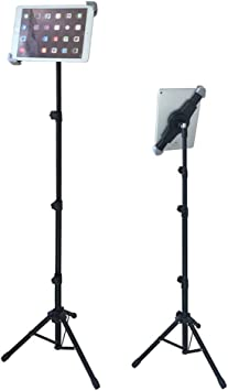"""Bingxue iPad Tablet Tripod Mount Stand with Diagonal Holder for 7/"""" to 12/"""" iPad m"""