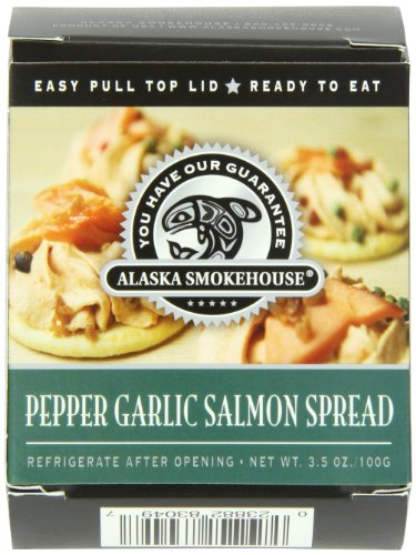 (Alaska Smokehouse Pepper Garlic Salmon Spread Serving  Design, 3.5 Ounce Boxes (Pack of 6))