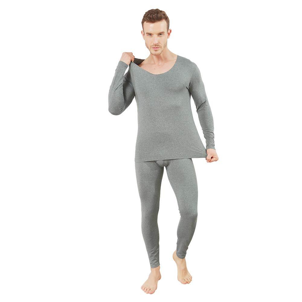 con scollo a V Set di biancheria intima termica da uomo a maniche lunghe con maniche lunghe Kasebay