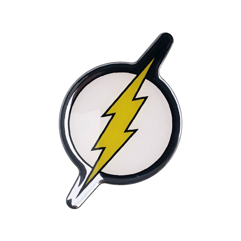 Trucks Cellphones Almost Anything LNI AUSTRALIA 9672-036 Laptops Motorcycles Fan Emblems The Flash Logo Car Decal Domed//Black//Yellow//White//Chrome Finish DC Comics Automotive Emblem Sticker Applies Easily to Cars