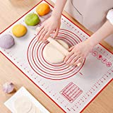 Non Slip Silicone Pastry Mat, Large Non-stick Baking Mat for Rolling Dough, Baking, Fondant, Pie Crust, Pizza, Bread, Cookie- Easy Clean Kneading Mats with Measurements(16' x 24')