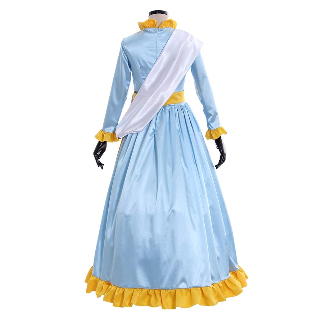 CosplayDiy Womens Dress for Mary Poppins Mrs Banks Winifred Suffragette Cosplay Costume