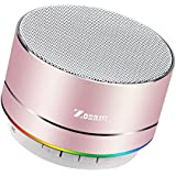 Zosam Portable Wireless Bluetooth Speaker Superb HD Sound &Enhanced Bass MINI Stereo Outdoor Speaker with Built-in Mic and SD/TF Card Slot for iPhone iPad PC Cellphone(Rose Gold)