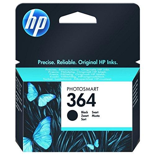 Hewlett-Packard (HP) Original 364 Black Ink Cartridge Standard Capacity CB316EE Only for European Printers