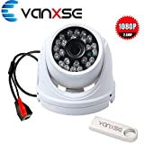Cheap Vanxse CCTV SONY CMOS 2MP Megapixel HD 1080P Waterproof Network 24IR Leds IR-CUT Indoor/Outdoor Armour Dome Security IP Camera surveillance camera