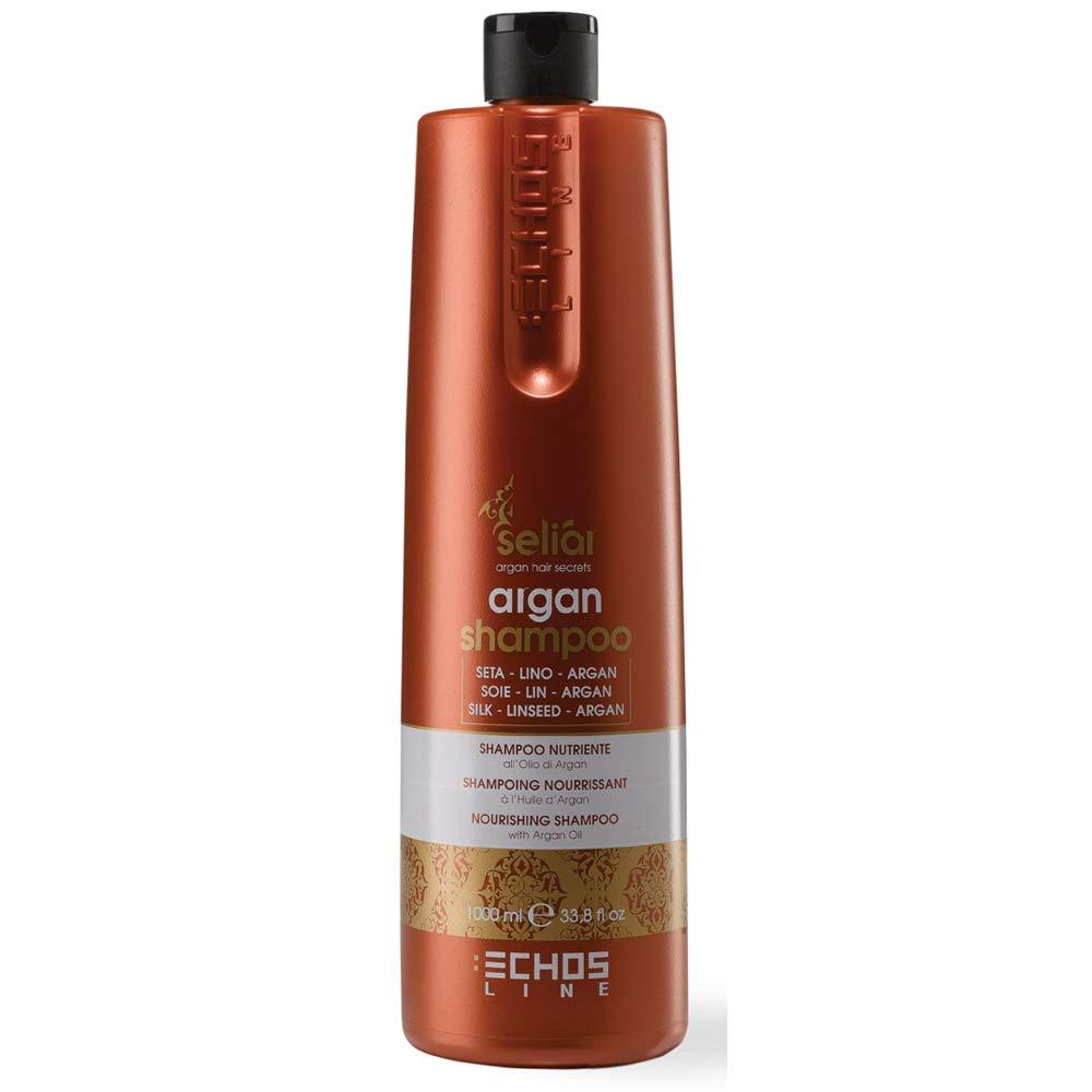 """Echos Line Seliar Argan Nourishing Shampoo 1000ml/33.8oz""""Free Starry Sexy Kiss Lip Plumping 10 Ml"""" (1000ml/33.8oz)"""