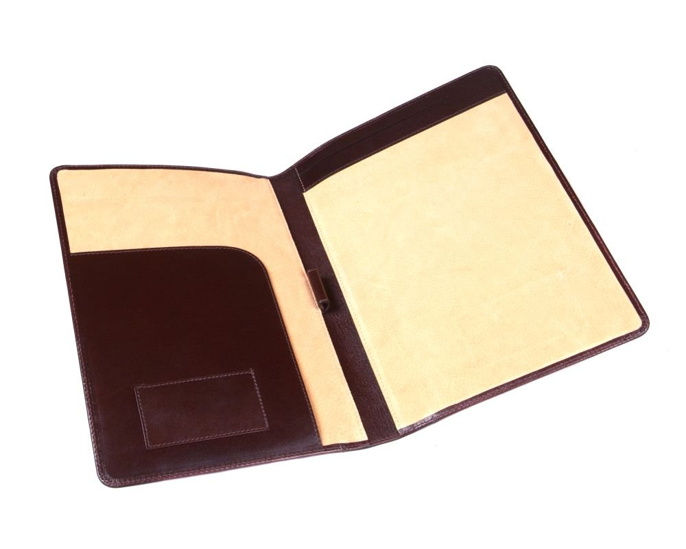 SAGEBROWN Brown A4 Leather Folder