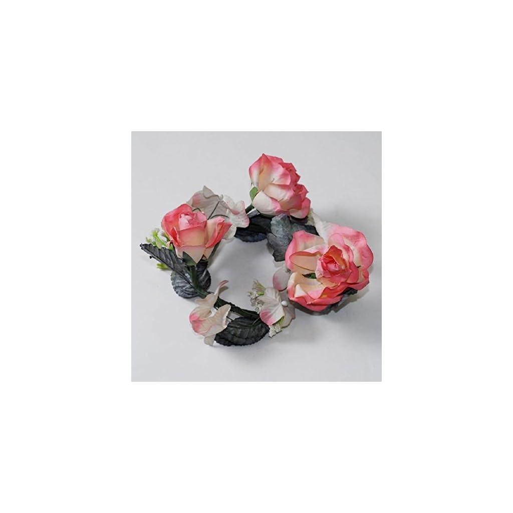 12-Rosemary-Latex-Flower-Candle-Ring-Floral-Design-Arrangement-Wreath-Wedding