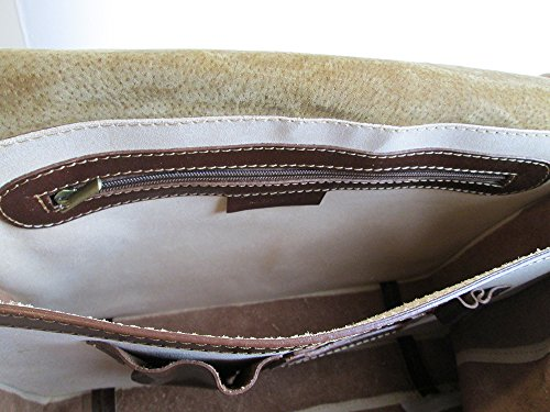 borsa con tracolla in vera pelle made in Italy