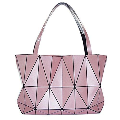 Handbag Geometric Shoulder Geometric Fashion Shoulder Ladies Bag Rhombus Rhombus Handbag Pink Ladies Fashion q0BvpOx