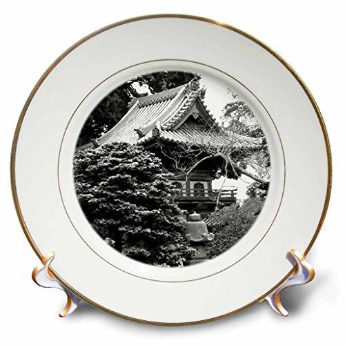 3dRose cp_88359_1 Pagoda, Japanese Gardens, San Francisco California - US05 DGU0065 - Darrell Gulin - Porcelain Plate, 8-Inch - Pagoda Curio