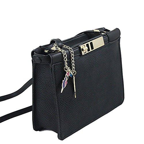 Tracolla Flat Bag Trussardi Jeans Diane Nero