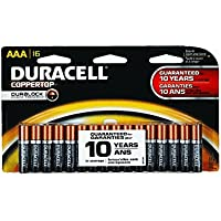 16-Pack Duracell Coppertop Alkaline AAA Batteries