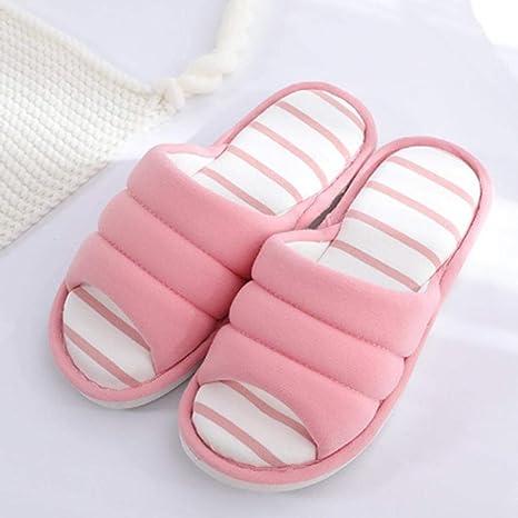 Zuyau Zapatillas de algodón Zapatillas De Casa para Mujer ...