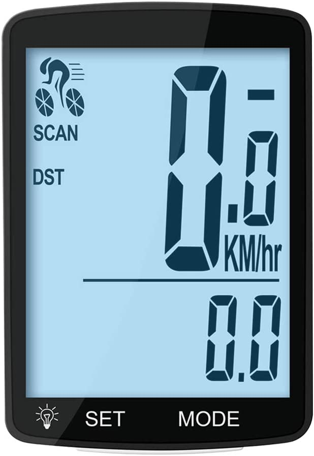 MACUNIN Bike Computer Multi Function Wireless Waterproof Bike Speedometer Odometer Cycling Accessories with 3'' Large LCD Display and Backlight