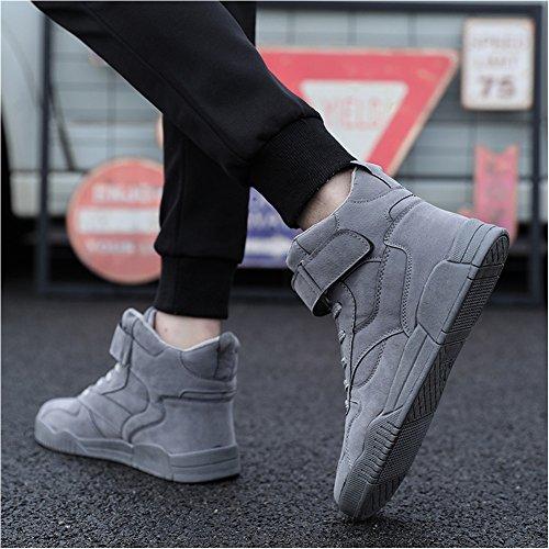 Capo Spettacolo Tm Mens Autunno E Inverno Moda Casual Sneakers Alta Cima Traspirante Scarpe Sportive Alla Caviglia Atletica # 1106 Grigio
