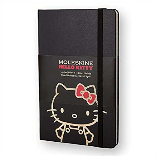 Moleskine Limited Edition Hello Kitty Notebook, Black, Ruled, Pocket (3.5 X 5.5)