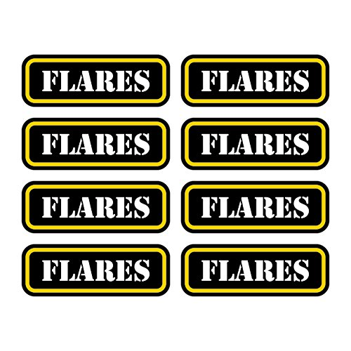 (8x) Flares Ammo Can Sticker Set Decal Self Adhesive molon labe flare FA Graphix