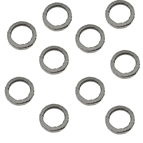 (TC-Motor 10pcs/pack 22MM 30MM Exhaust Muffler Gasket Kit For Chinese Moped Scooter GY6 49cc 50cc 125cc 150cc)