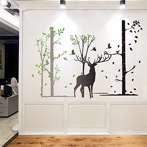Ghaif The Nordic wind forest elk wall posters living room bedroom wall decoration sticker wall paper self-adhesive waterproof minimalist modern 6090CM