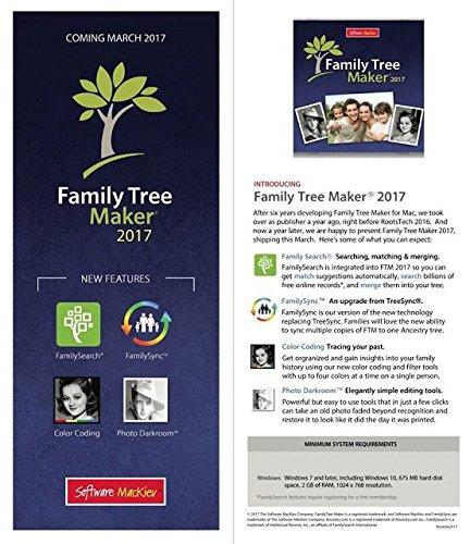 family tree maker 2017 pc software disc new amazon ca office